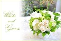 Pari's Style Arragement(White・Green)  花材はお任せ〜季節のお花で上品に仕上げます〜